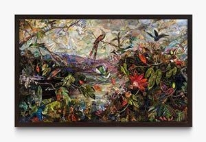 Repro: Ten Hummingbirds, after Martin Johnson Heade by Vik Muniz contemporary artwork