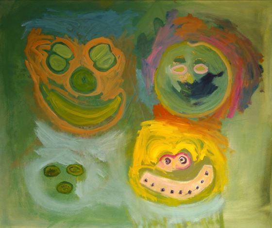 Layla Rudneva-Mackay, [Untitled}, (2018). Oil on canvas, 100 x 120 cm. Courtesy Starkwhite.