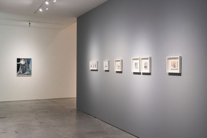 Exhibition view: Ying Hung, Mind and Matter: Derivation 神思與物遊,Tina Keng Gallery, Taipei (13 April–26 May 2019). Courtesy the artist and Tina Keng Gallery.