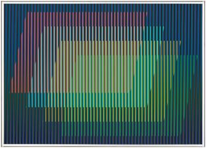 Physichromie n°1882 by Carlos Cruz-Diez contemporary artwork