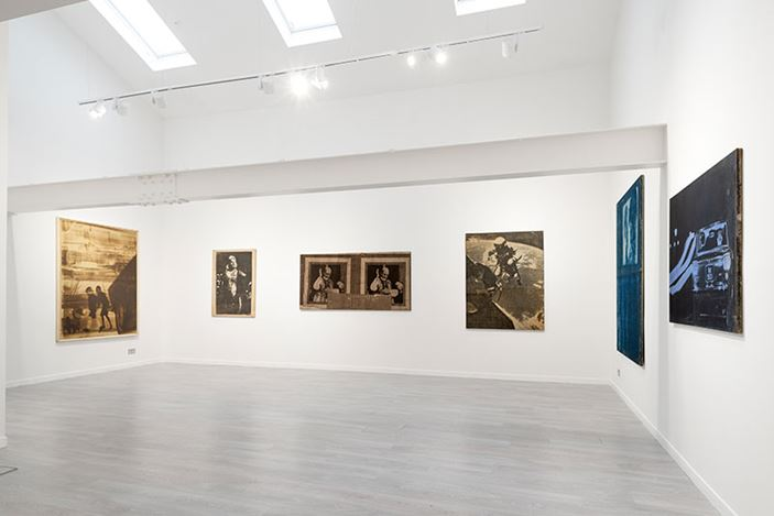 Exhibition view: Mimmo Rotello, Beyond Décollage: Photo Emulsions and Artypos, 1963–1980, Cardi Gallery, London (3 March–31 July 2020). Courtesy Cardi Gallery.