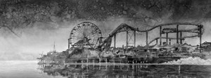 Amusement Park Skyline by Hans Op de Beeck contemporary artwork
