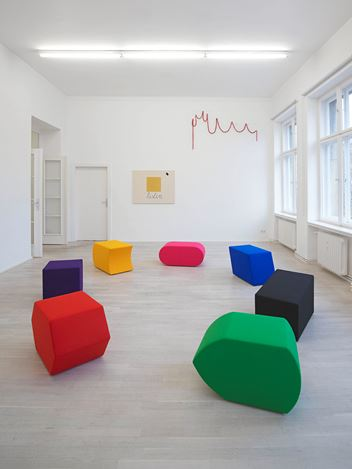 Exhibition view: Luca Frei,Process charts pLay, Barbara Wien, Berlin (22 November 2019–25 January 2020). Courtesy Barbara Wien.
