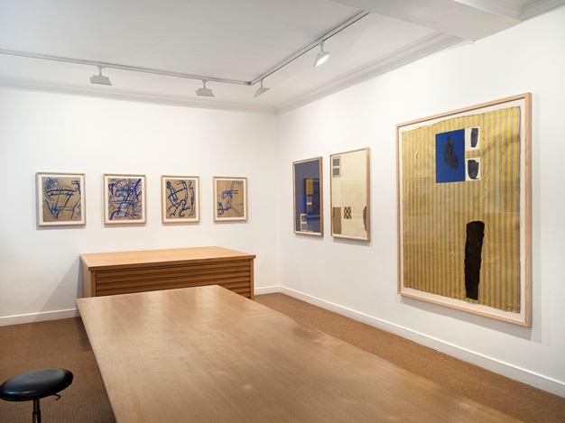 Exhibition view: James Brown, Collages, monotypes and prints (1986–1992), Galerie Lelong & Co., 13 Rue de Téhéran, Paris (18 May–13 July 2019). Courtesy Galerie Lelong & Co.