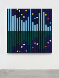 Another World [Sound Graph] by Sarah Morris contemporary artwork painting