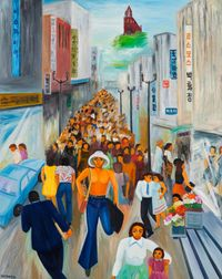 Myeong-Dong by Jung Kangja contemporary artwork painting, works on paper