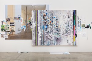 Afterimage, Rainbow Disturbance (Painting in its Archive) by Sarah Sze contemporary artwork