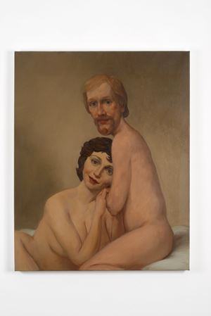 Couple in Bed by John Currin contemporary artwork