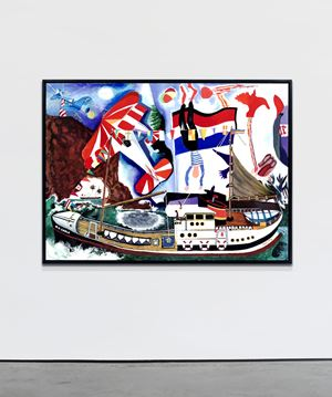 Regatta by Malcolm Morley contemporary artwork
