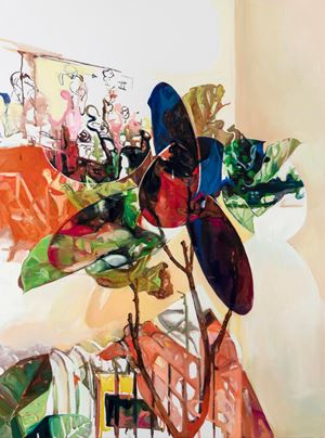 Twinning_Fiddle Leaf Corner by Jihyun Lee contemporary artwork
