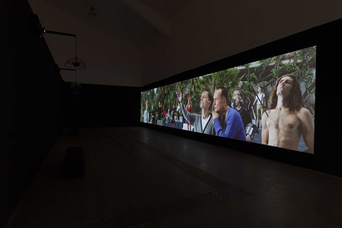 Exhibition view: AES+F, What Came to Pass, Tang Contemporary, Beijing (20 May–30 June 2020). Courtesy Tang Contemporary.