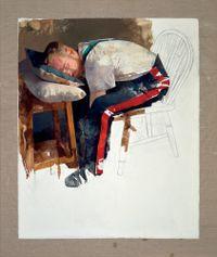 Courbet, Saviour of the World by Diarmuid Kelley contemporary artwork painting