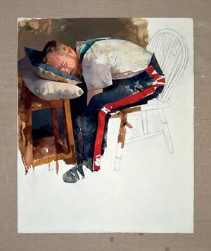 Courbet, Saviour of the World by Diarmuid Kelley contemporary artwork