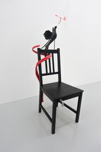 Paradise Bird with Windometer by Caroline Rothwell contemporary artwork sculpture