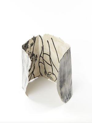 The Girl in the Box by Ghada Amer contemporary artwork