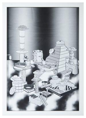 Hard Boiled Daydream( Collage Roman ) #6 水煮白日夢(羅馬拼貼)#6 by Teppei Kaneuji contemporary artwork