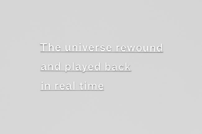Ideas - (The universe rewound and played back in real time) by Katie Paterson contemporary artwork