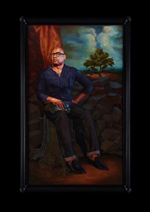 Portrait of Glenn Ligon, Hermes by Kehinde Wiley contemporary artwork