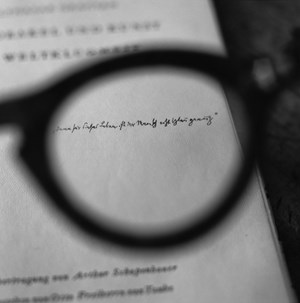 Brecht's glasses - Viewing a dedication by Walter Benjamin by Tomoko Yoneda contemporary artwork