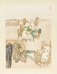 The meeting by Yun-Fei Ji contemporary artwork works on paper