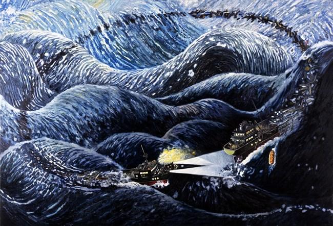 Rescue Boat by Oscar Oiwa contemporary artwork