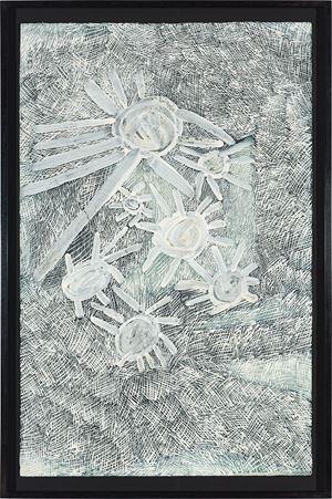 Lines by Nyapanyapa Yunupiŋu contemporary artwork painting