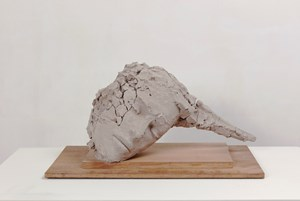 Unfired Tilted Head by Mark Manders contemporary artwork