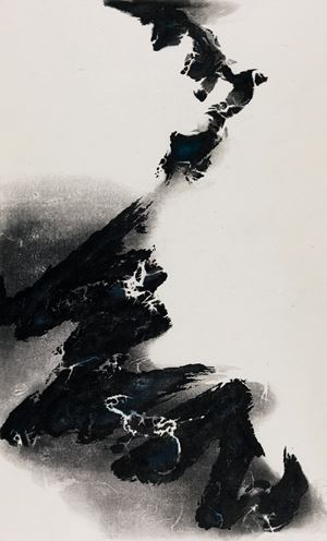 Rising Toward Mysterious Whiteness  《升向白茫茫的未知》 by Liu Guosong contemporary artwork