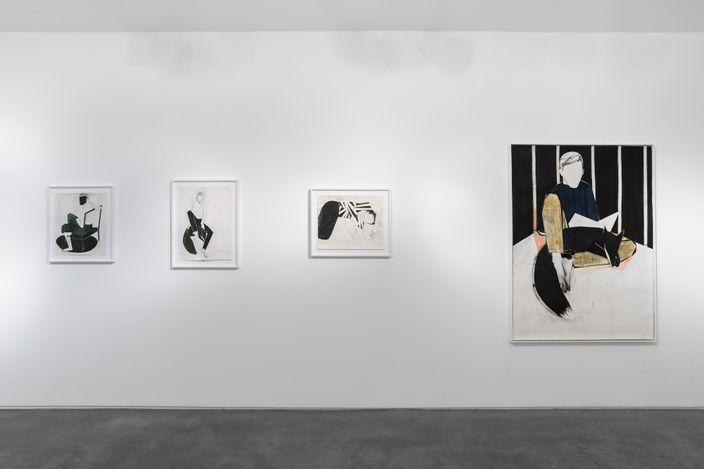 Exhibition view:Iris Schomaker, in secret kept/ in silence sealed,Huxley-Parlour, London (8 June–3 July 2021).Courtesy Huxley-Parlour.