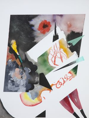 Achterbahn (Roller Coaster) by David Lehmann contemporary artwork painting, works on paper, drawing