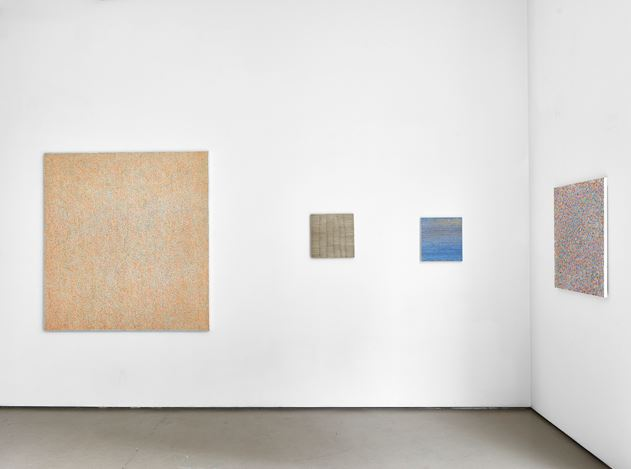 Exhibition view: Howard Smith, 1 + 1 + 1 ... paintings and works on paper, Jane Lombard Gallery, New York (23 May–23 June 2018). Courtesy Jane Lombard Gallery.