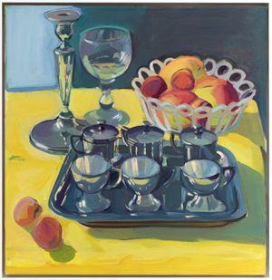 Silbernes Teeservice/Geburtstagsbild by Maria Lassnig contemporary artwork