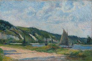 Les voiliers ou Les falaises de la Bouille by Paul Gauguin contemporary artwork