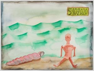 5-10-2020 by Francesco Clemente contemporary artwork