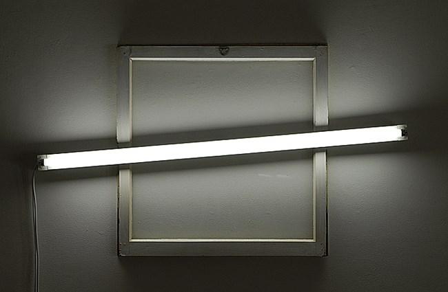 Square window by Bill Culbert contemporary artwork