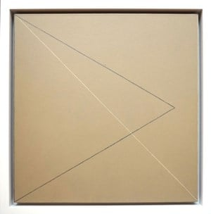 Two Triangles Within A Square #3 by Robert Mangold contemporary artwork