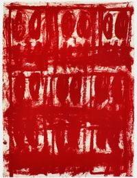 Untitled Anxious Red Drawing by Rashid Johnson contemporary artwork painting