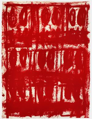 Untitled Anxious Red Drawing by Rashid Johnson contemporary artwork