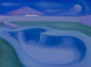 The moon searching for the water by Lucy O'Doherty contemporary artwork painting, works on paper, drawing