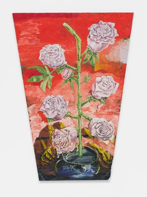 Roses and red by Ken Taylor contemporary artwork