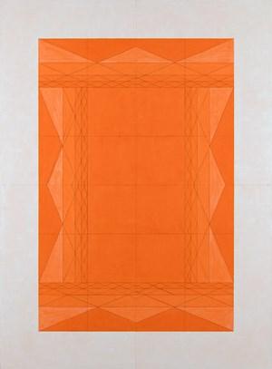 4 Little Bracket Bridges Inward in Orange by Inga Svala Thórsdóttir & Wu Shanzhuan contemporary artwork