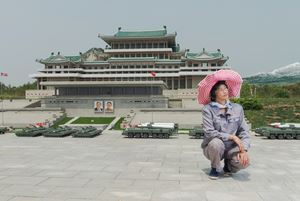 #24 RI Gyong Sun, 45, Maintaining Ancient History Section, Folk Park Pyongyang by Matjaž Tančič contemporary artwork