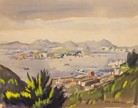 Untitled (View of Lavender Harbour from the Peak) by Luis Chan contemporary artwork works on paper