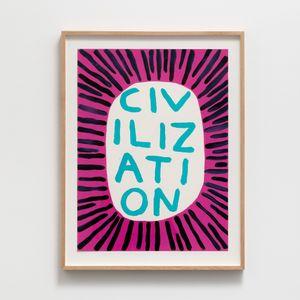 Civilization by David Shrigley contemporary artwork