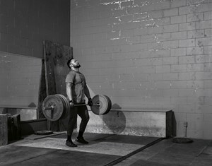 Weightlifter by Jeff Wall contemporary artwork