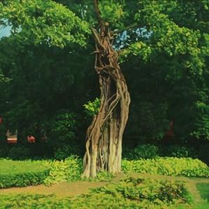 Un arbre banian dans le jardin 園中榕樹 by Chen Jianzhong contemporary artwork