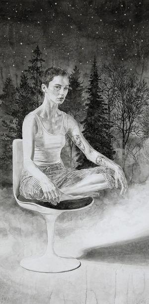 Stéphanie by Hans Op de Beeck contemporary artwork