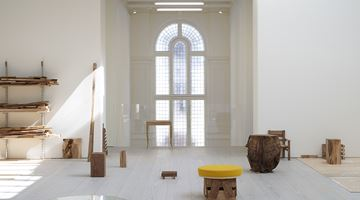 Contemporary art exhibition, Danh Vō, Cathedral Block, Prayer Stage, Gun Stock at Marian Goodman Gallery, London