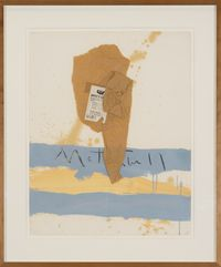 U.S Art New York N.Y. by Robert Motherwell contemporary artwork painting, works on paper, mixed media