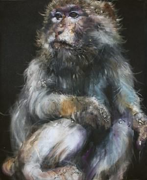 Lonely Monkey #3 by Li Tianbing contemporary artwork painting